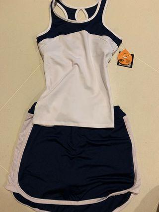 Brand New Tennis Set with TAG, made for the WTA tournament (top + skirt)