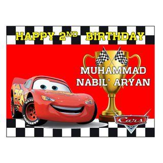 Table Display Signage - Cars