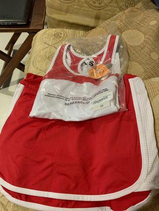 Brand New Tennis Set (Top + Skirt) still in packet, made for the WTA tournament