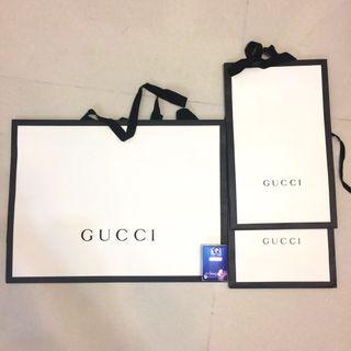 Gucci名牌紙袋3個