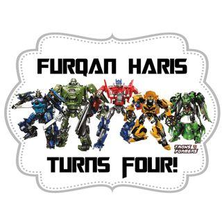 Table Display Signage - Transformers