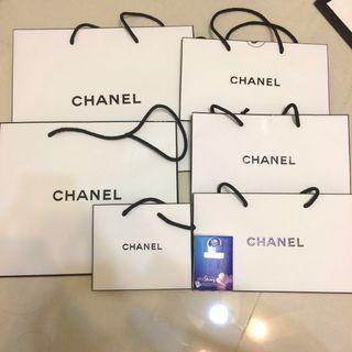 Chanel名牌紙袋6個