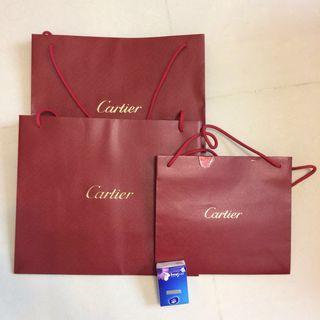 Cartier 紙袋3個