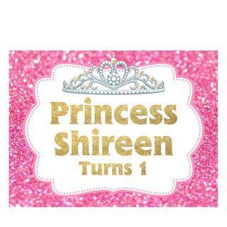 Table Display Signage - Tiara and Princess
