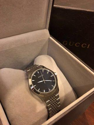 GUCCI MEN'S WATCH G-TIMELESS BLACK DIAL | AUTHENTIC