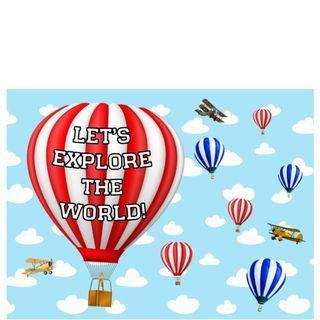 Table Display Signage - Hot Air Balloons