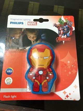 漫威英雄-鋼鐵人手電筒-飛利浦#半價居家拍賣會