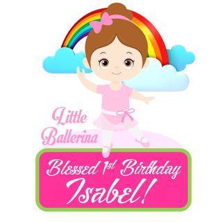 🚚 Cake Topper - Little Ballerina