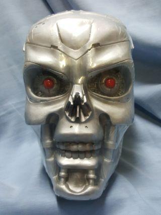 Skeletons head porcelain coin bank