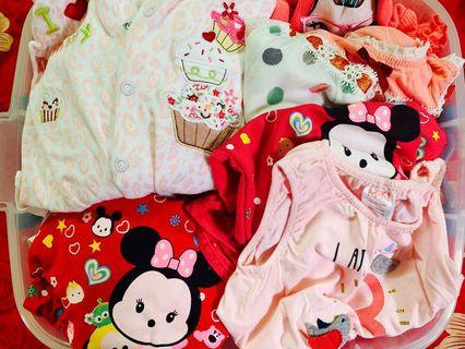 Baby toddler girl clothes/ random apparel up to 18 months / all for $15 except box