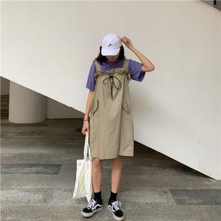 [全場批發價現貨]背帶裙半身裙兩穿顯瘦無袖裙子