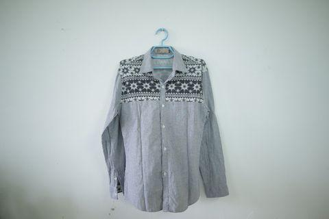 Prelove - Baju Kemeja Vintage Slimfit (M)