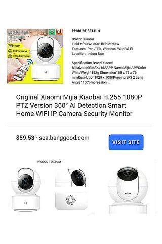 XiaoMi💯 1920x1080P Camera latest+lighter PTZ 360