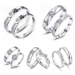 Couple Ring Silver Plated
