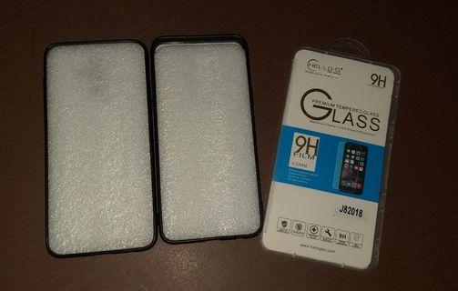 Samsung J8 casing and tempered glass