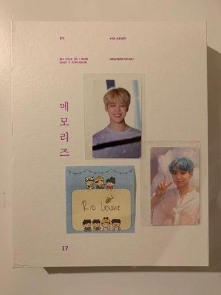 BTS Memories of 2017 DVD w/ Photocards