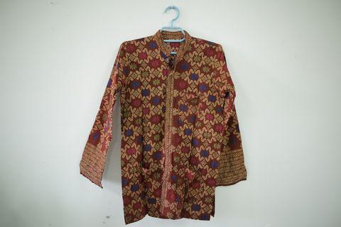 Prelove - Baju Kemeja Batik Sarawak Slimfit (S)