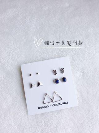 🚚 小巧氣質耳環-幾何三角