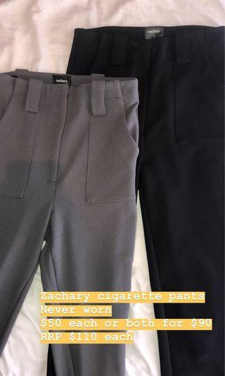 Zachary cigarette pants GREY! (Black sold)
