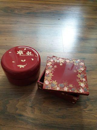 Japanese style lacquer boxes