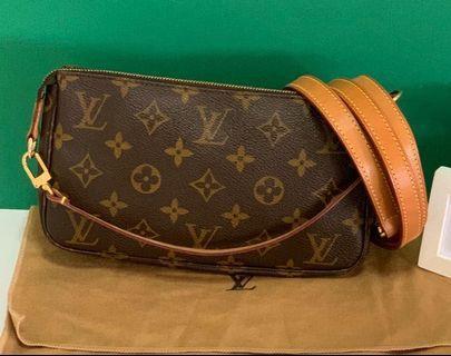 LV Pochette Accessories with authentic strap