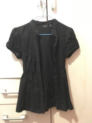 斯文黑色恤衫(背後可綁蝴蝶結)