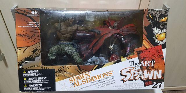 The Art of Spawn Series 27 Spawn Vs Al Simmons Box Set BNIB