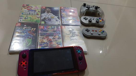 Nintendo Switch + 6 Games