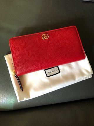 全新100%正貨Gucci zip wallet