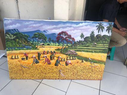 Lukisan Bali di Sawah
