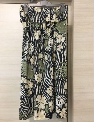 Rainforest Theme Tube Dress - Brand New