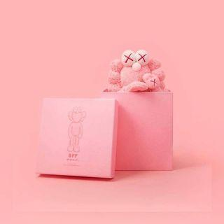 Kaws BFF Plush Pink