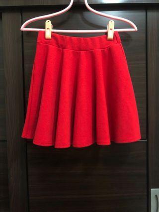 紅色A字裙