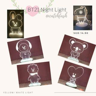 BT21 BTS NIGHT LIGHT /LAMP