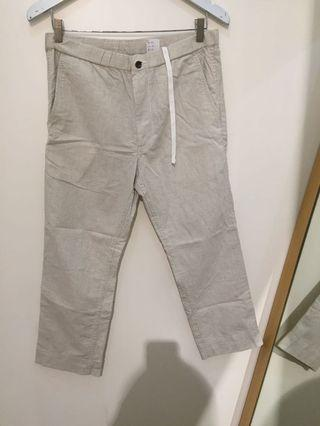 Uniqlo sweat pant linen+ cotton /trouser for mens