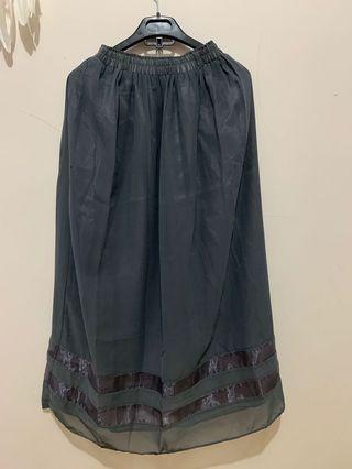 Maxi Skirt Dark Grey
