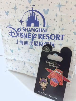 SH Disneyland Big hero six baymax and hiro pin
