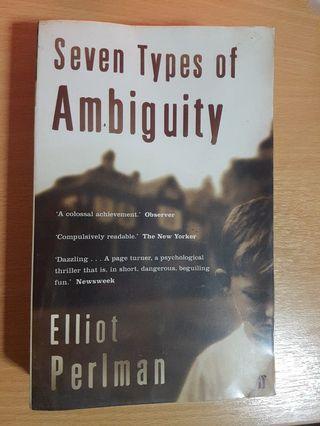 🚚 Seven types of ambiguity - Elliot Perlman