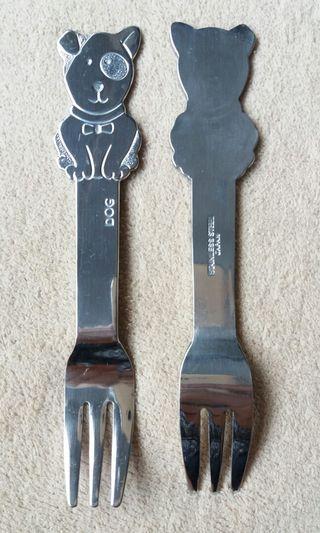 Stainless steel forks (dog)