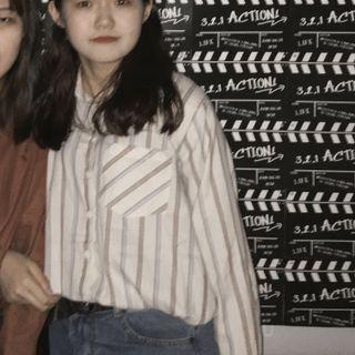 🚚 米死條紋襯衫