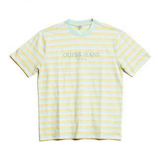 Small Guess X ASAP Rocky David Reactive T-Shirt Mint/Yellow