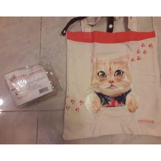Mannings Cat Tote bag 37X35cm $25 包郵
