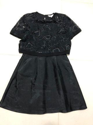 🚚 (Bnwt) Black Lace Romper