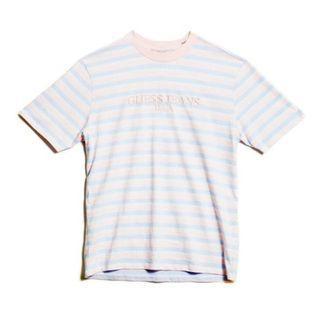 Small Guess X ASAP Rocky David Reactive T-Shirt Pink/Purple