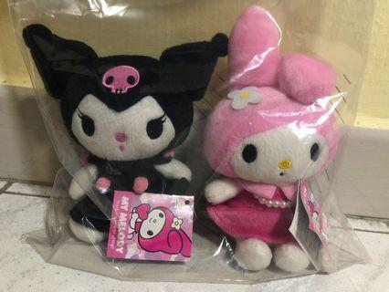 Sanrio Kuromi & Melody plush/ soft toy/ stuffed toy (with Sanrio tag)