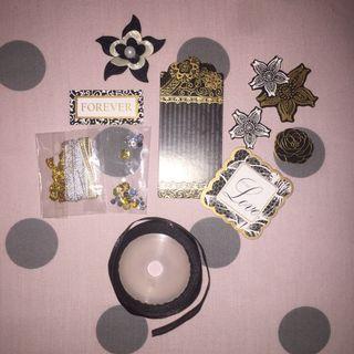 monochrome scrapbook kit