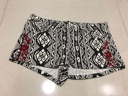 F21 Aztec tribal print shorts