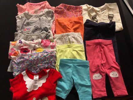 🚚 3-12m Baby Girl Clothes bundle