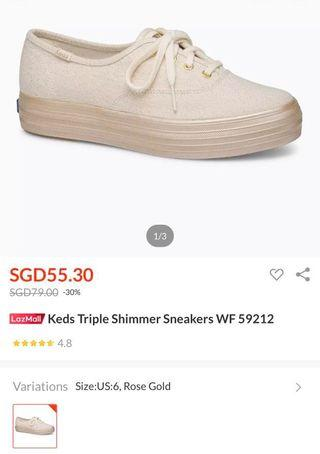 🚚 Keds rose gold sneakers