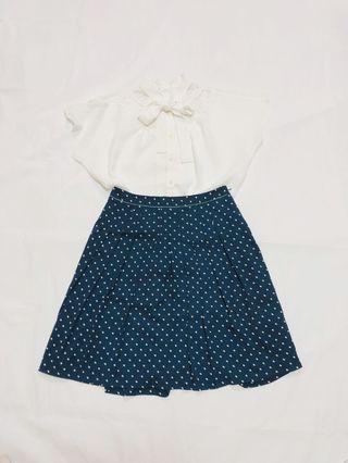 [F]日本小店購入春夏款小滿新少女心減齡款波點復百摺短裙dress